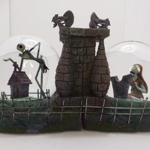 Nightmare Before Christmas Snow Globe Bookends